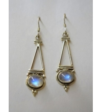 Sterling 925 Moonstone Shepard Hook Earrings