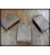 Sterling Silver Match Box Sleeves Set of 3