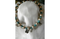 Silver & Turquoise Bead..