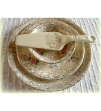 CrownFord Burslem 3 Tier Chintz  Cake Tray