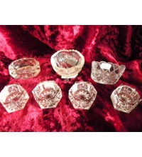 Victorian Crystal Salt Cellars Collection in Sets of 4 / 3 / or Singles