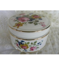 Sadler England China Powder Jar/Trinket Bowl with Lid Flowers Vintage