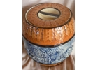 Vintage Blue & Brown Relief Majolica B..