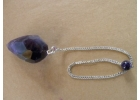 Dark Amethyst Pendulum w/ Beaded Ameth..