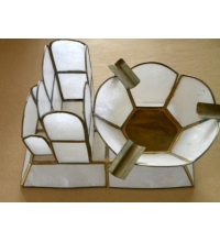 Shell & Brass Combination Cigarette / Ashtray