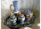 6 Piece Porcelain Lusterware Condiment..