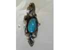 Old Pawn  Turquoise & Sterling Ring Ma..