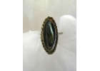 Old Pawn Abalone & Sterling Ring
