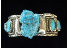 Old Pawn 8 Stone Turquoise & Sterling ..