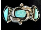 Old Pawn Turquoise & Sterling Signed H..