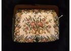 Vintage Floral Tapestry Carpet Bag w/ ..