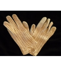 1950's Beautiful Hand Crocheted Cotton  Driving Glove