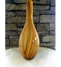 Hand Blown Murano Style End of Day Art Glass Vase