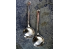 Silver Pair of Tudor Plate Sugar Spoon..