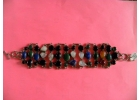 Sterling & 42 Gemstone Bracelet