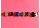 Sterling Silver 6 Gemstone Bracelet