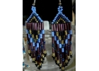 Native American  Beaded Earrings  Blue..
