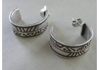 Sterling Silver Band Earrings Signed C..