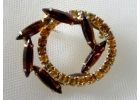 Amber & Citrine Color Rhinestone in Go..