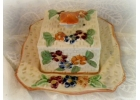 Unique Vintage Majolica Butter Dish & ..