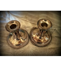 Vintage Sterling Silver Pair of Weighted Candle Holders