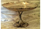 Vintage Silverplate Cake Stand w/ Engr..