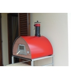'Ristorante' Wood Burning Oven/Smoker 70X70' RED - Metal Door