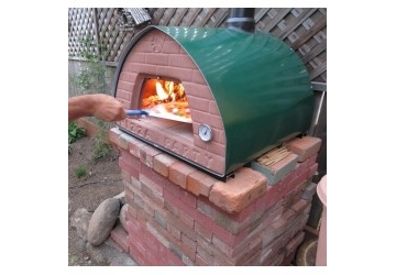 'Ristorante' Wood Burning Oven / Smoker '70X70' GREEN - METAL DOOR