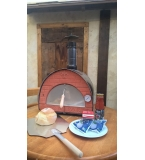 'Terrazza' SMALL PORTABLE 29kg WOOD OVEN - BALCONIES, YARDS, GARDENS BLACK. Metal door