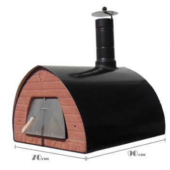 Large Wood Oven 70X90cm - Black