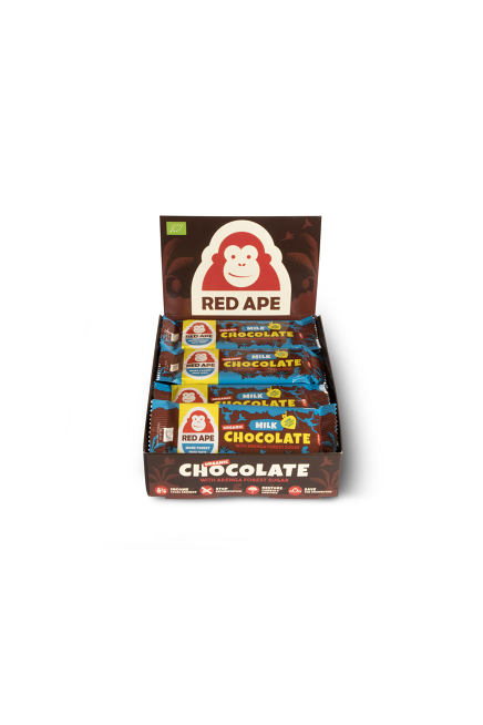Red Ape Milk chocolate 20 bar display