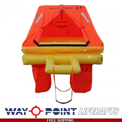 4 Person Waypoint ISO 9650-1 Ocean Elite liferaft