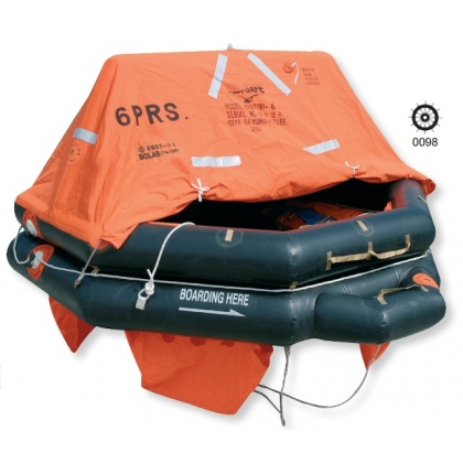 6 Person Throw Over Board Liferaft for commercial vessels