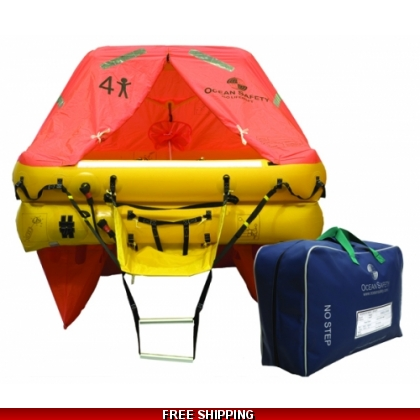 4 Person Ocean Safety Ocean ISO Liferaft Less Than 24 Hour