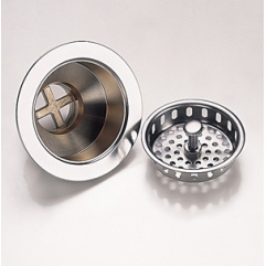 Basket Strainer Waste Brushed Chrome