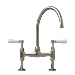 Clarendon Bridge Lever Tap Brushed Nickel