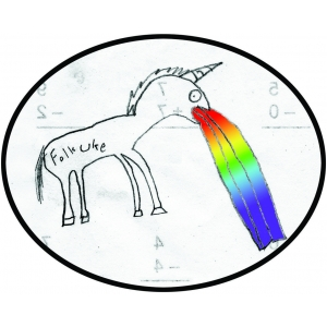 FU Rainbow Unicorn Stic..