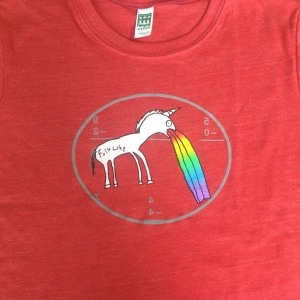 Kids Red Rainbow Unicorn