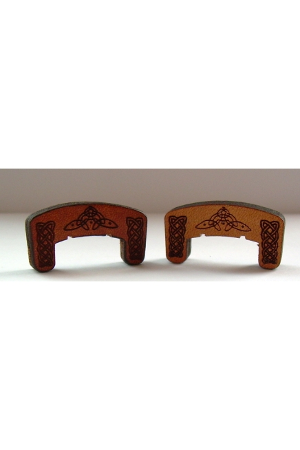 Violin Mute with Engraved Celtic Knot Design