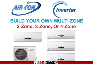 AirCon Custom Built Multi Zone Ductless Mini Split System