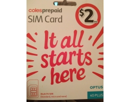 AUSTRALIAN COLES PAY AS YOU GO SIM CARD AUSTRALIA