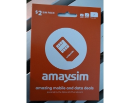 AUSTRALIAN AMAYSIM PAY AS YOU GO SIM CARD AUSTRALIA