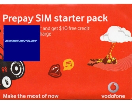 AUSTRALIAN VODAFONE PAY AS YOU GO SIM CARD AUSTRALIA