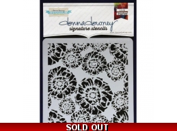Blooming Floral - Donna Downey - Signature Stencils 8.5