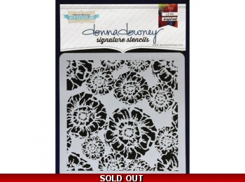 "Blooming Floral - Donna Downey - Signature Stencils 8.5""X8.5"""