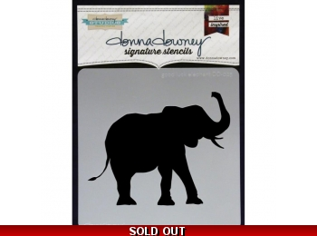 "Good Luck Elephant - Donna Downey - Signature Stencils 8.5""X8.5"""