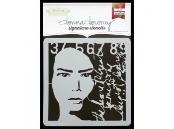 "Collage Portrait - Donna Downey - Signature Stencils 8.5""X8.5"""