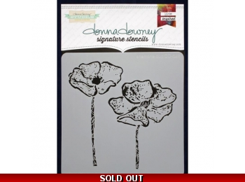 "Anemone Duo - Donna Downey - Signature Stencils 8.5""X8.5"""