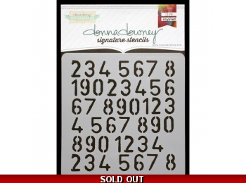 "Numbers Repeat - Donna Downey - Signature Stencils 8.5""X8.5"""