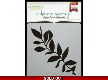 "Single Stem - Donna Downey - Signature Stencils 8.5""X8.5"""